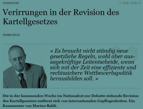 Marino Baldi: Verirrungen in der KG-Revision